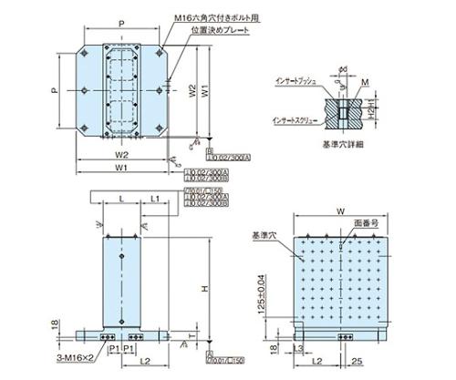 MC2面ブロック(グリッドタイプ) BJ060-5020-12
