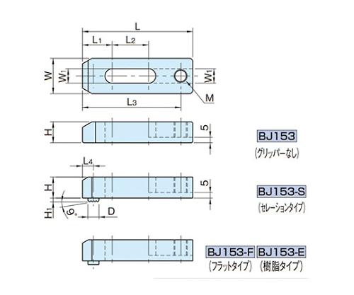 溝付きストラップ BJ153-08040