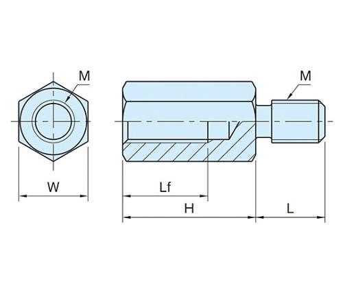 タイロッドボルト M8×1.25 ステンレス BJ610