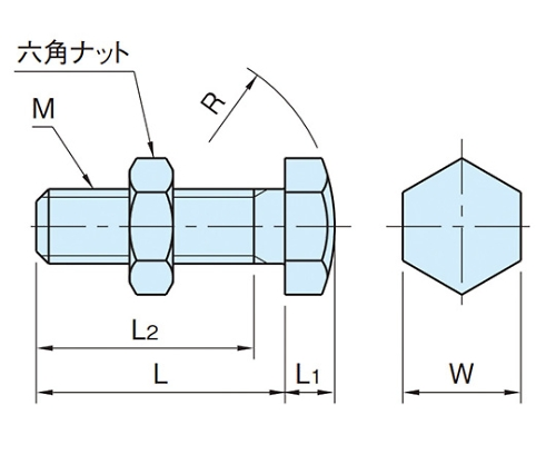 スラストボルト M12×1.75 BJ732-12070