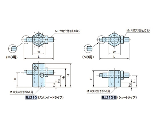 アジャストストッパー(軽量型) BJ210-08040