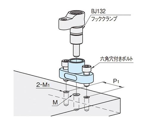 フックホルダー(フランジタイプ) 16  BJ531-04016