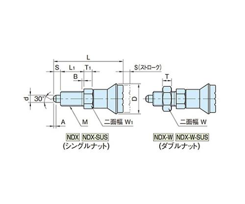 インデックスプランジャー(SUS製) NDX10-SUS