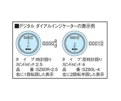 デジタルダイアルインジケーター SZ80R-2.5