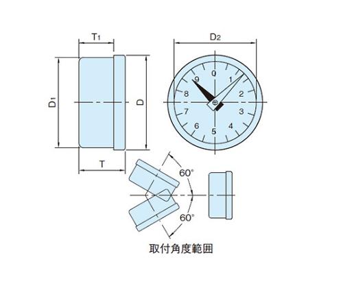 エンプラダイアルインジケーター PD70L-1/30