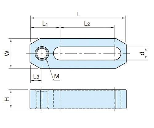 ネジ穴付ストラップ BJ158