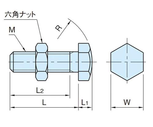 スラストボルト M12×1.75 BJ732-12060  BJ732-12060