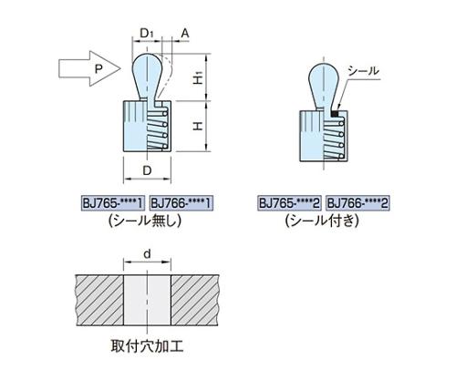 スプリングロケートピン(スチールピン) BJ765-03001