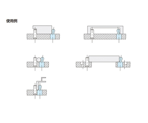 スプリングロケートピン(樹脂ピン) BJ766-10001