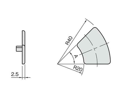 エンドキャップ5 L5-ECPR24D90