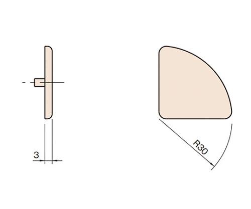 エンドキャップ6 L6-ECPR3030