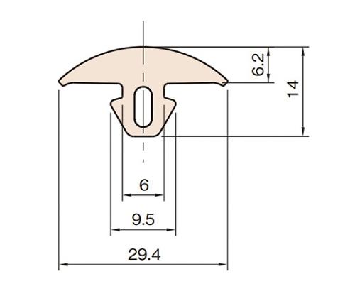 グリップグルーブカバー6 L6-GPGC-20M