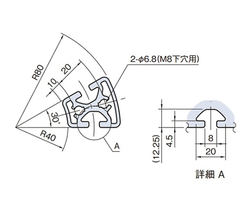 ラウンドプロファイル RPH48D30N-3M