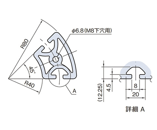 ラウンドプロファイル RPH48D45N-3M
