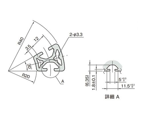 ラウンドプロファイル5 L5-RPH24D30N-3M