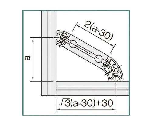 ラウンドプロファイル5 L5-RPH24D60N-3M