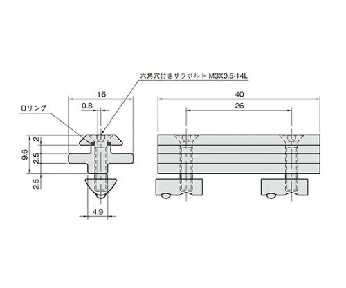 スライドガイドストリップ5/5 L5-SGS5/5F