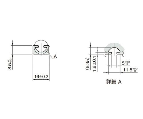 ストラットプロファイル5 L5-SPH1608N-3M