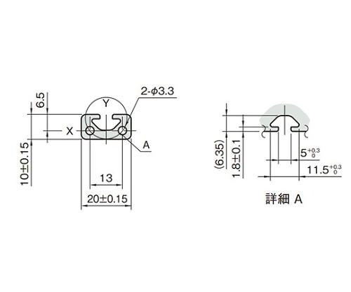 ストラットプロファイル5 L5-SPH2010N-3M