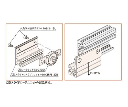 C型スライドローラーユニット L6-C-SRU