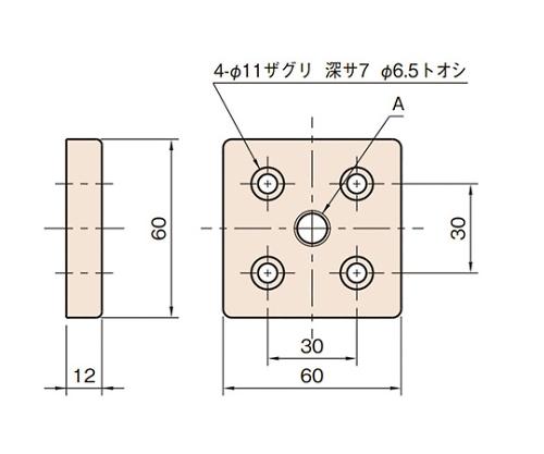 エンドコネクター6 L6-ECN6060-M12