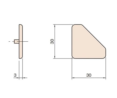 エンドキャップ6 L6-ECP3030-45