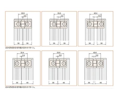 ヒンジ6 L6-HZN30-6/8