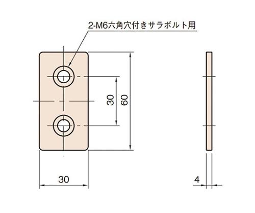 ジョイントブラケット L6-JBT3060