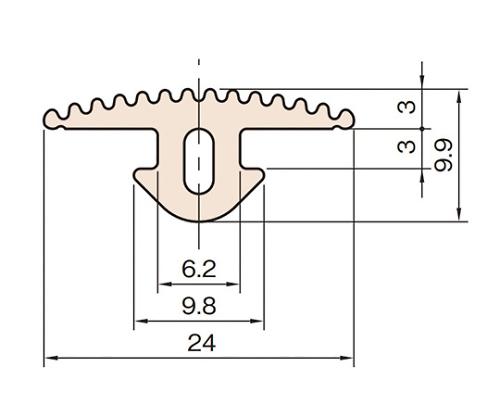 ラバーグルーブカバー6 L6-RGC-20M
