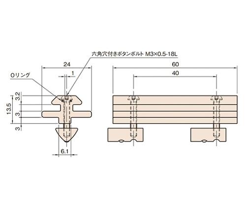 スライドガイドストリップ6/6 L6-SGS6/6F