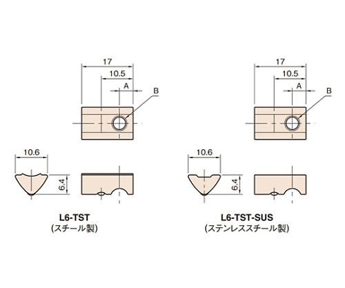 Tナット6ST L6-TST4