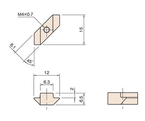 Tナット6ZN L6-TZN4