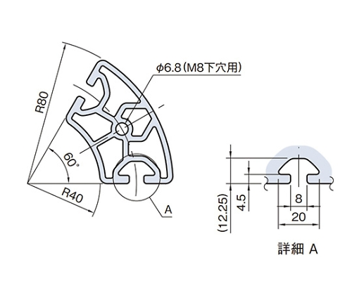 ラウンドプロファイル RPH48D60N-3M