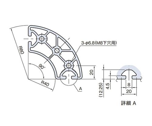 ラウンドプロファイル RPH48D90N-3M