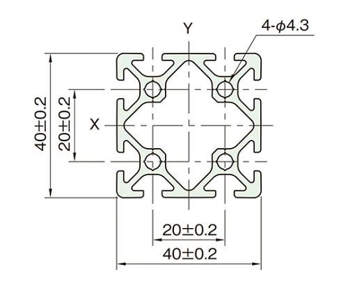 アルミフレーム AFE20-4040N-3M