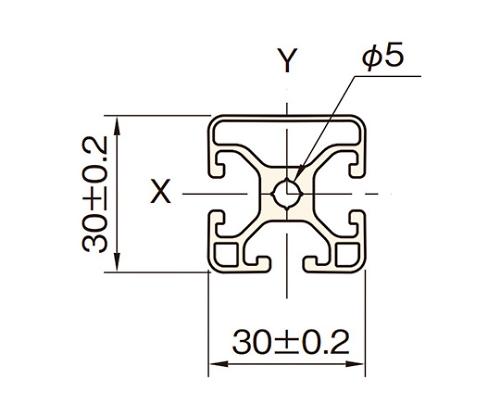 アルミフレーム AFE30-3030N1-3M