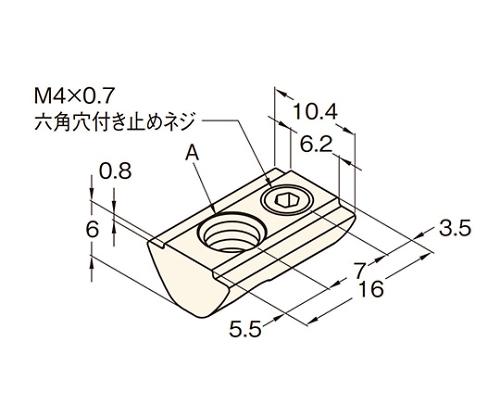 ロックナット ステンレス RNT30-M6-SUS