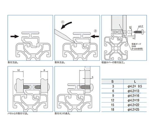 スクリュードコーナーフレーム エコノミー型 SCFE1220-3M