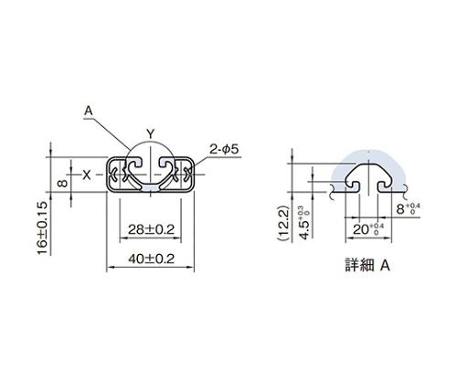 ストラットプロファイル エコノミー型 SPE4016N-3M