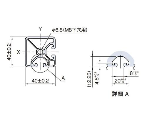 ストラットプロファイル エコノミー型 SPE4040N2-3M
