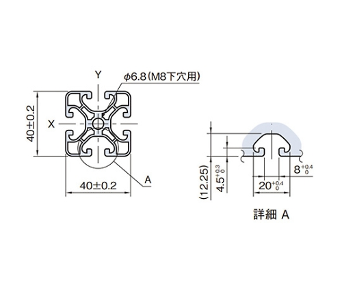 ストラットプロファイル エコノミー型 SPE4040N-3M