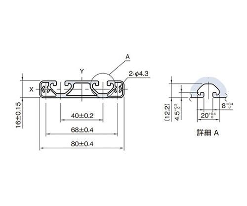 ストラットプロファイル エコノミー型 SPE8016N-3M