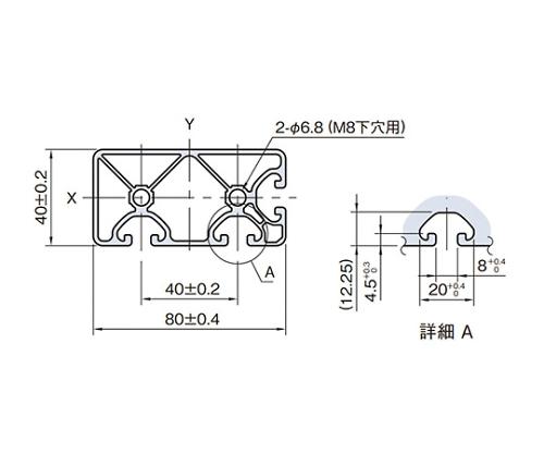 ストラットプロファイル エコノミー型 SPE8040N3-3M