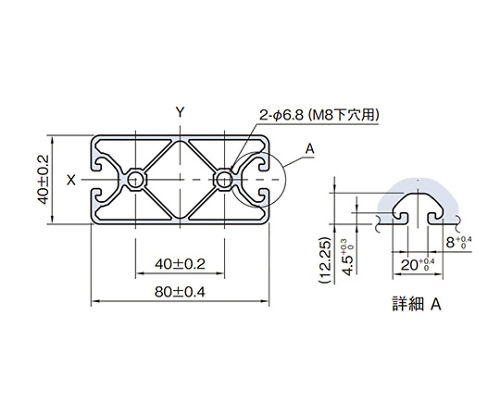 ストラットプロファイル エコノミー型 SPE8040N4-3M