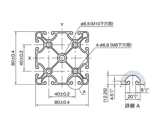 ストラットプロファイル エコノミー型 SPE8080N-3M