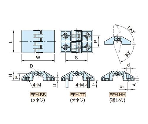 エンプラフラットヒンジ EFH4530HH