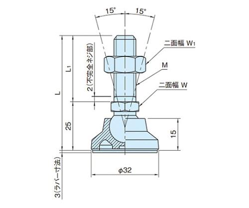 エンプラレベリングパッド(SUS製) LSA32S12B-SUS