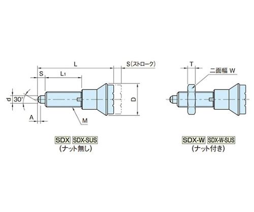 インデックスプランジャー(SUS製) SDX16-SUS