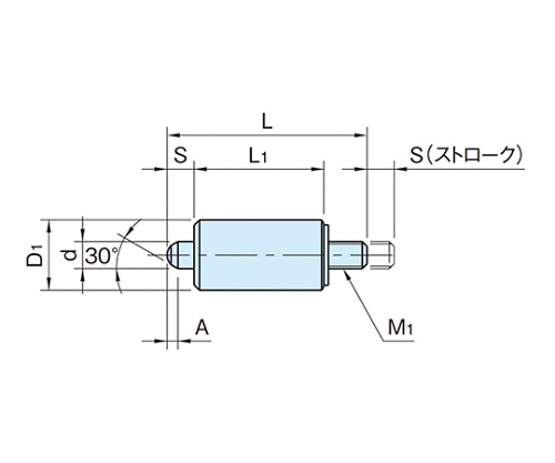 インデックスプランジャー(ノブ無し) WDX10N-M4-SUS