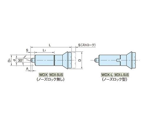 インデックスプランジャー(ノーズロック型) WDX20L-SUS WDX20L-SUS